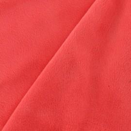 Soft short minkee velvet Fabric - Coral x 10cm