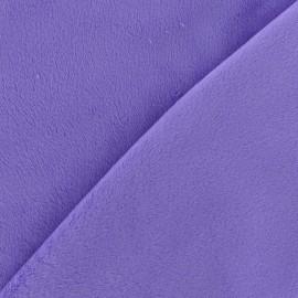 Tissu velours minkee doux ras violet x 10cm