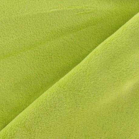 Soft short minkee velvet Fabric - lime x 10cm
