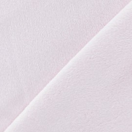 Soft short minkee velvet Fabric - pink dragée x 10cm