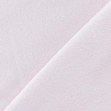 Soft short minkee velvet Fabric - pink dragée x 10cm