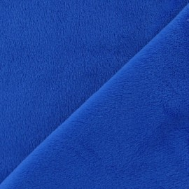 Soft short minkee velvet Fabric - navy blue x 10cm