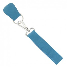 Leather strap with snap hook and D-buckle-strap Caspio - blue