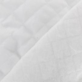 Tissu doublure matelassée blanc x 10cm