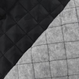 ♥ Coupon 30 cm X 150 cm ♥ Tissu doublure matelassée noir
