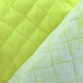 Doublure matelassée jaune fluo x 10cm