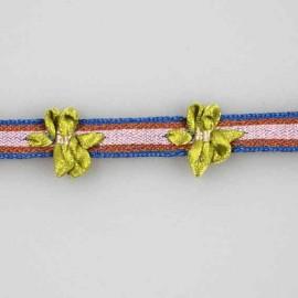 Bolero braid trimming, nashville 8 mm - green/pink