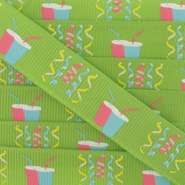 Grosgrain Ribbon, Party - Lime