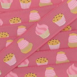 Ruban gros grain Gourmandises cupcakes rose
