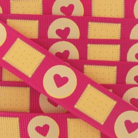 Grosgrain ribbon, candies, butter cookies - Fuchsia