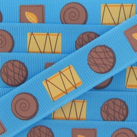 Grosgrain ribbon, candies, Cakes - Blue
