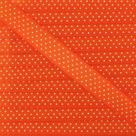 Froufrou Satiny Ribbon, with white polka dots - Orange