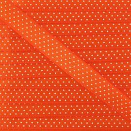 Ruban Froufrou satiné à pois orange