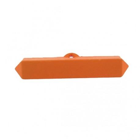 Nylon small-log-shaped button - orange