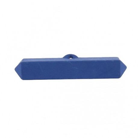 Nylon small-log-shaped button - blue