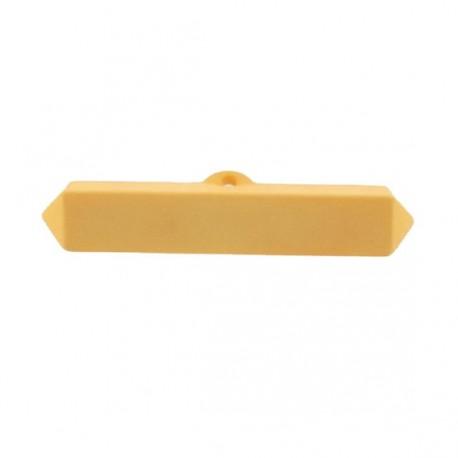 Nylon small-log-shaped button - yellow