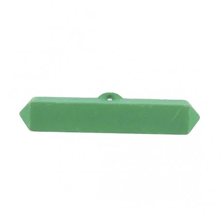 Nylon small-log-shaped button - green