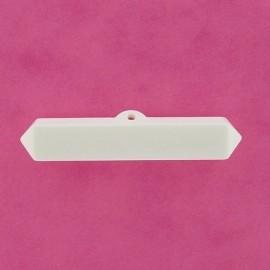 Bouton bûchette nylon blanc