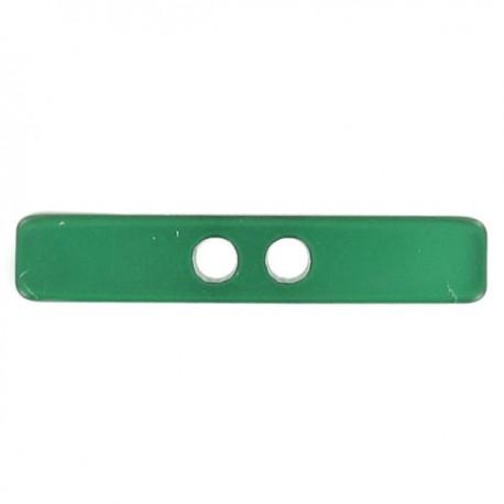 Button, Small log, satin aspect - green