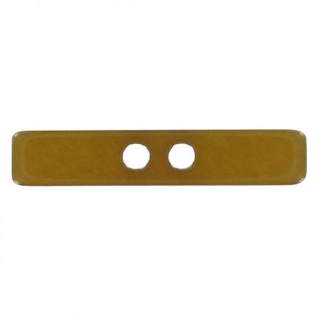 Button, Small log, satin aspect - ochre-colored