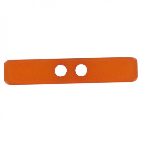 Button, Small log, satin aspect - orange