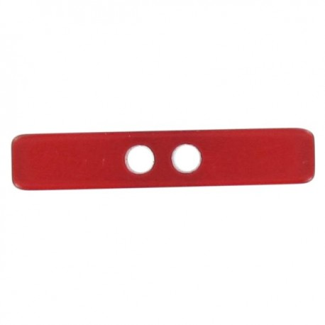 Button, Small log, satin aspect - red