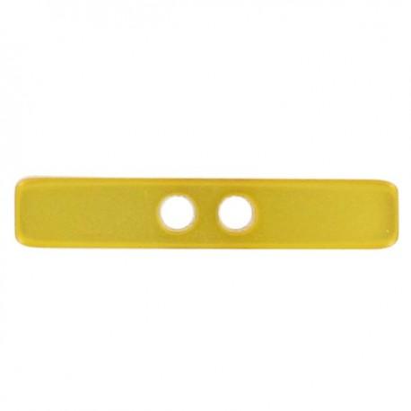 Button, Small log, satin aspect - yellow