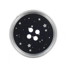 Bouton nuit d'étoiles argent