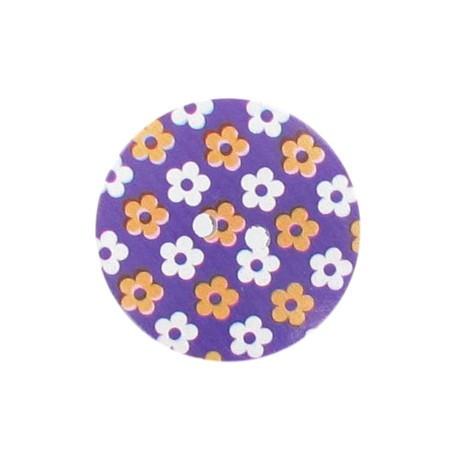 Bouton bois Elno violet
