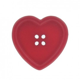 Heart-shaped button - red - Ma Petite Mercerie