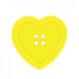 Heart-shaped button - yellow