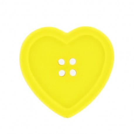 Bouton coeur jaune