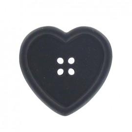 Bouton coeur noir