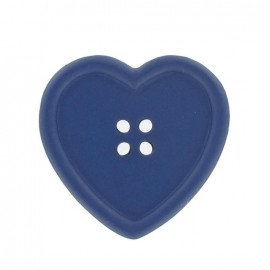 Heart-shaped button - navy