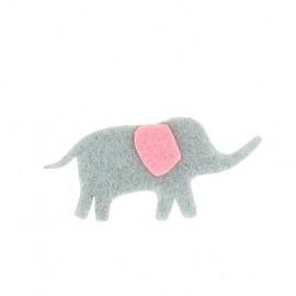 Motif feutrine Eléphant gris