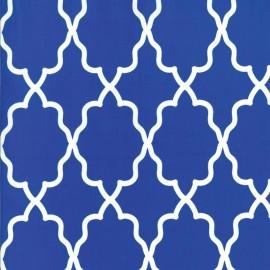 Tissu Moroccan Lattice cobalt x 10cm