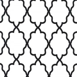 Tissu Moroccan Lattice blanc x 10cm