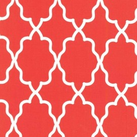 Tissu Moroccan Lattice rouge x 10cm