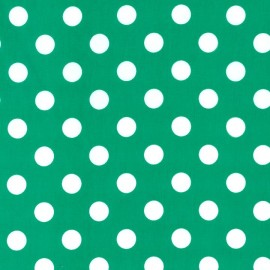 Tissu Quarter Dot vert x 10cm