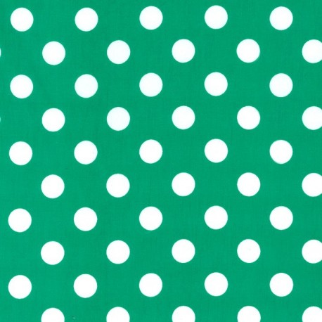Fabric Quarter Dot - Green Turf x 10cm