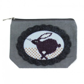 Embroidery pocket kit 13/17 cm - grey/black
