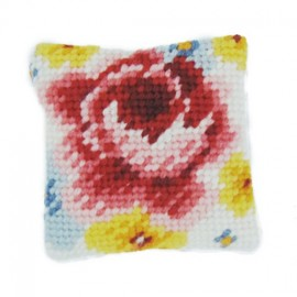 Needlepoint Embroidery cushion kit - multicolored
