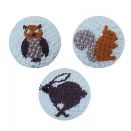Kit broderie boutons