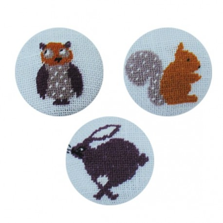 Buttons embroidery kit - multicolored