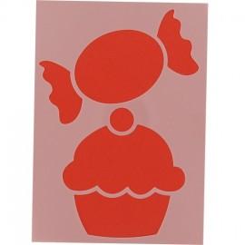 Pochoir Cupcake Bonbon