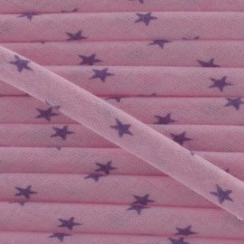 Cord, star, Lavander B - mauve/pink