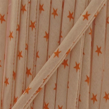 Cord, star, Mandarin B - orange