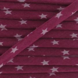 Cord, star, Camellia A - fuchsia