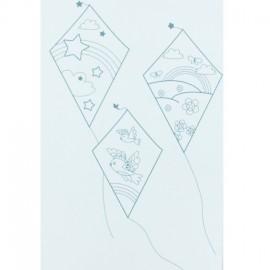 Kite textile transfer to color - light blue