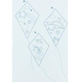Kite textile transfer to color - light blue